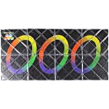 HappyToy LingAo 8 Panels 3 Rings Black Magic Folding Puzzle Cube Twisty
