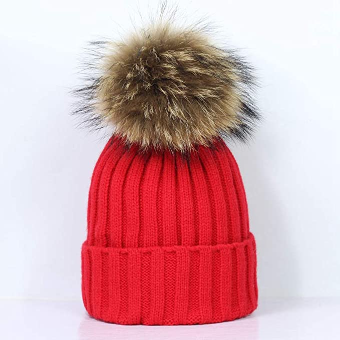 c12387a7ca216 Image Unavailable. Image not available for. Color  RXIN Fashion Winter  Brand Female Ball Cap Pom Poms Winter Hat for Women Girl   ...