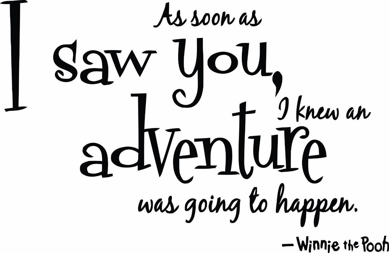 Amazon as soon as i saw you i knew an adventure was going to amazon as soon as i saw you i knew an adventure was going to happen quote winnie the pooh wall sticker decal decor childrens bedrooms boys girls 20 x amipublicfo Images