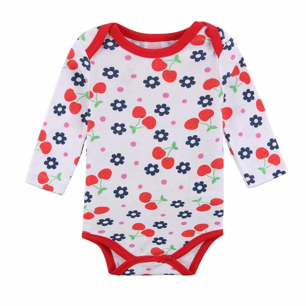 Iuhan 3Pcs Cotton Toddler Baby Girls Outfits Clothes Romper Newborn Bodysuit Set