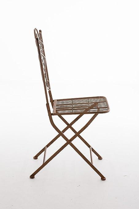 Assise Usage de Fer en Terrasse Extérieur Adelar Meuble de Balcon CLP Chaise de Couleur Chaise Pliante Forgé Hauteur 47 cm et pour Jardin 3LARj54