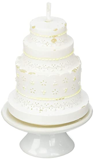 Amazon De Unbekannt Elegante Mit Spitze Hochzeit Kuchen Kerze