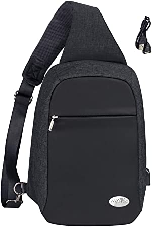 Sling Bag Crossbody Shoulder Chest Back Pack Anti Theft Travel Bags Daypack for Men Women