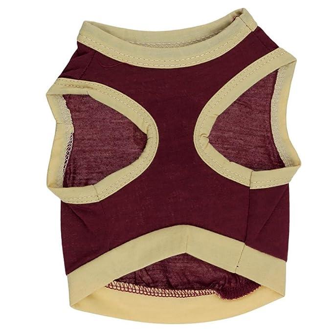 SunGren Ropa de Perro, Chaleco de Verano Mascota de algodón Puro Camiseta Traje de Perrito para Perros pequeños(XS,Amarillo): Amazon.es: Productos para ...