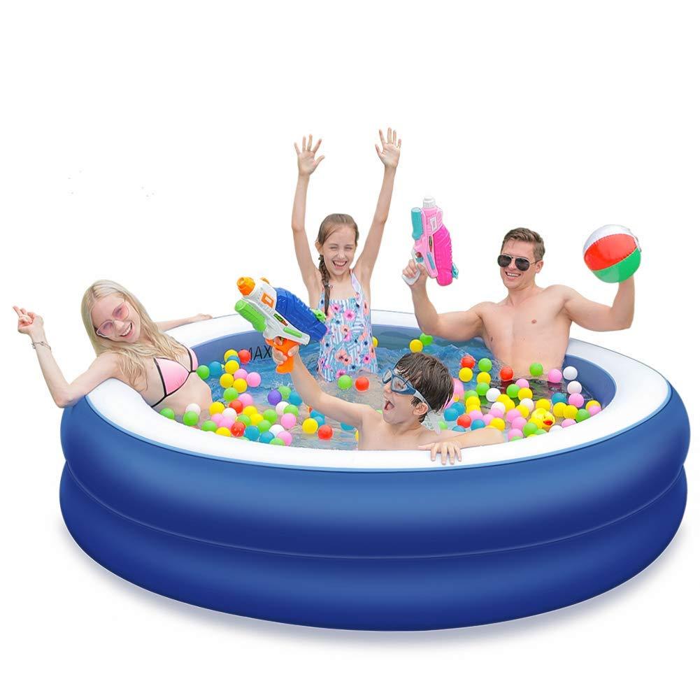 OlarHike 85'' x 22'' Extra Large Family Inflatable Pool for Ages 3+, Blue & White (Renewed) by OlarHike