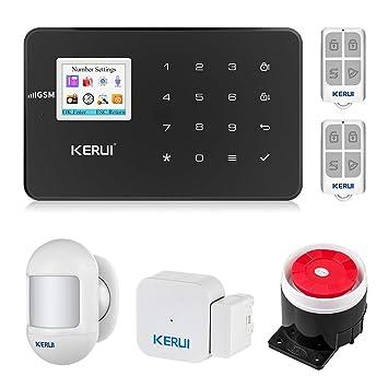 KERUI gsm - Sistema de Alarma inalámbrico (SMS, Control ...