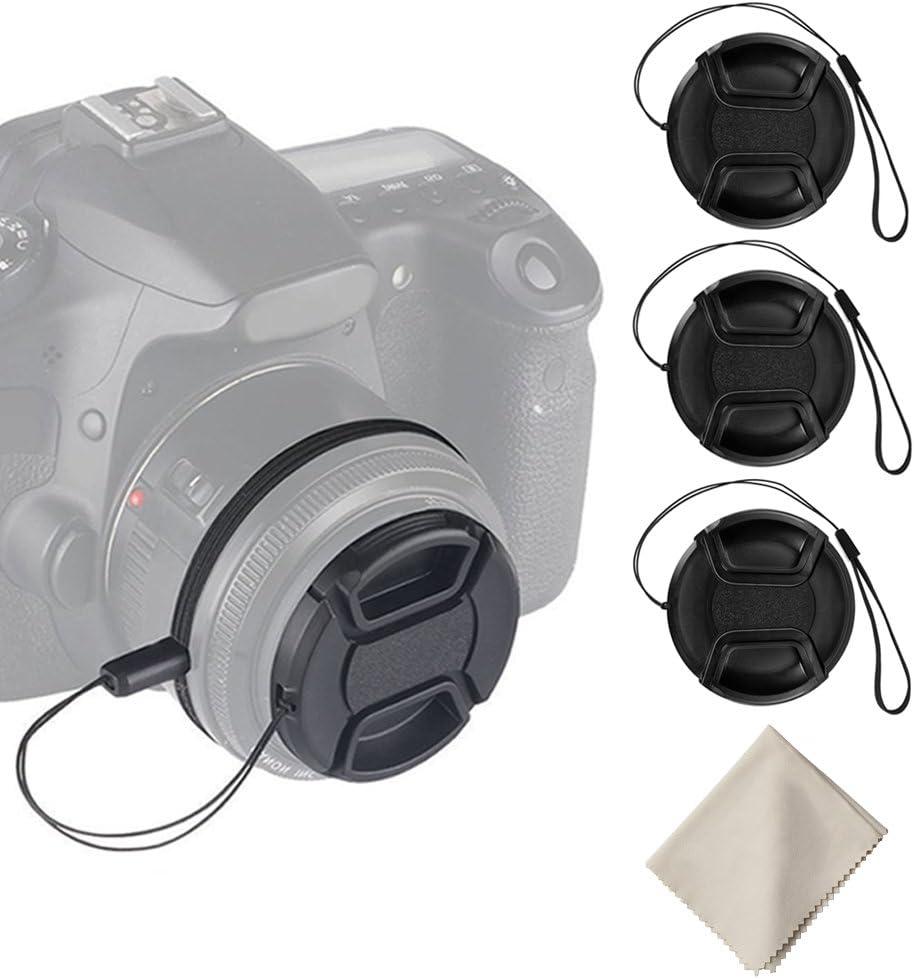 3PCS 52mm Tapas de Objetivo, Tapas de Objetivo para cámaras réflex ...