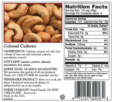 Colossal Cashew - 10 oz. Box