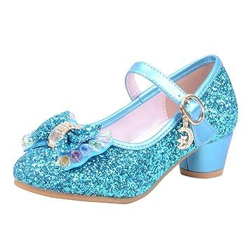 414c0a709b6cf Amazon.com: Sparkle Princess Shoes for Girls Sequin Bowknot Low ...