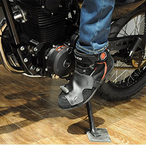 A.B Crew PU Leather Motorcycle Shoe Boot Cover Shifter Scuff Marks Protector Gear Apparel Accessories, Large