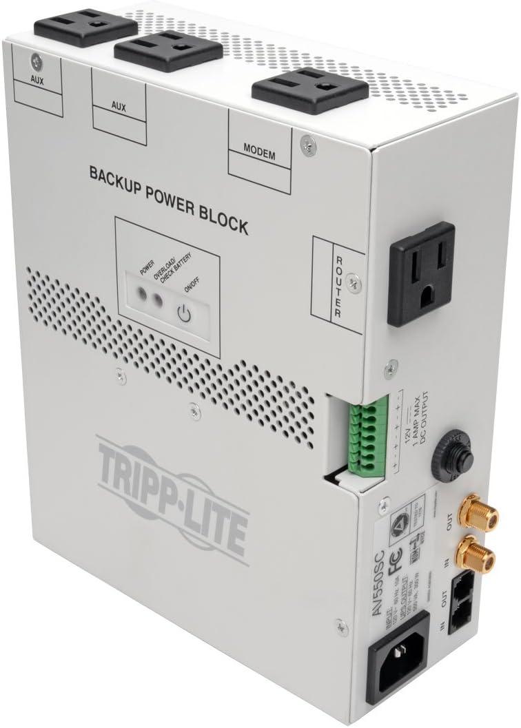 Tripp Lite 550VA Audio/Video Backup Power Block UPS - Exclusive UPS Protection for Structured Wiring Enclosure (AV550SC)