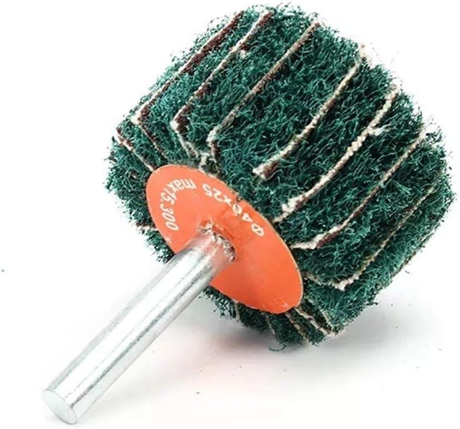 Size : 50mm Gulakey 6mm Shank Nylon Fiber Wheel Abrasive Polishing Buffing Disc 25//30//40//50//60mm Grinding and Polishing