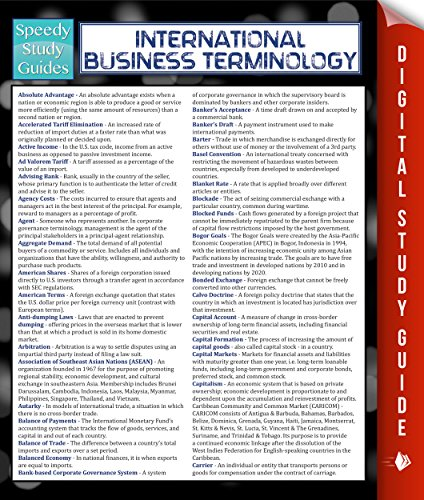 International Business Terminology (Speedy Study Guide) Pdf