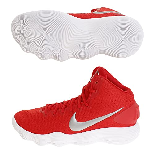 233bfa6ab7b9 Nike Mens Hyperdunk 2017 TB Basketball Shoe University Red Metallic  Silver White Size 11 M US  Buy Online at Low Prices in India - Amazon.in