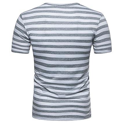 e205d0eae8ff Männer Sommer T-Shirt Lässige Sport T-Shirt Fitness Outdoor T-Shirt Reine  Farbe Atmungsaktiv Schnell Trocknend Stretch Top  Amazon.de  Bekleidung
