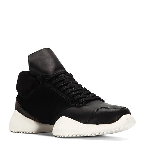 fe89957bf4884 Adidas X Rick Owens Men's Runner Sneakers RW15F7800 (4.5 D(M), Black ...