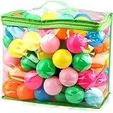 iKing カラーボール 海洋ボールのおもちゃ 7色/5色 直径5.5cm カラフル 多色 やわらかポリエチレン製 PE より厚み 弾力あり 表面柔らかい 赤ちゃんおもちゃ ベビー用おもちゃ 安全 無毒 匂いナシ ビーチ ボール 子供が喜ぶカラフルな配色 プール/ボールプール/ボールハウス用 知育のボール 誕生日プレゼント ボールプール お風呂で遊ぶ・テント・遊園地おもちゃ (7色5.5cm)