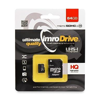 Tarjeta de Memoria IMRO 64GB Original Micro SD Clase 10 UHS ...