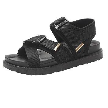 8f2a9cf965766 Amazon.com: ❤ Sunbona Women Flat Sandals Ladies Summer Fat Low ...