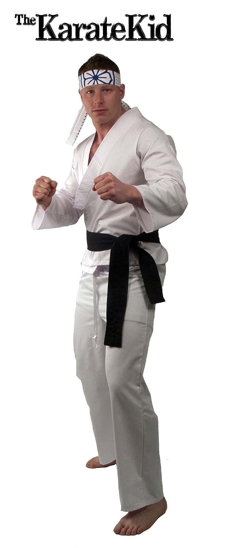 Karate Kid Halloween Costume.Halloween Costumes Deluxe Karate Kid Daniel San Adult Costume Size