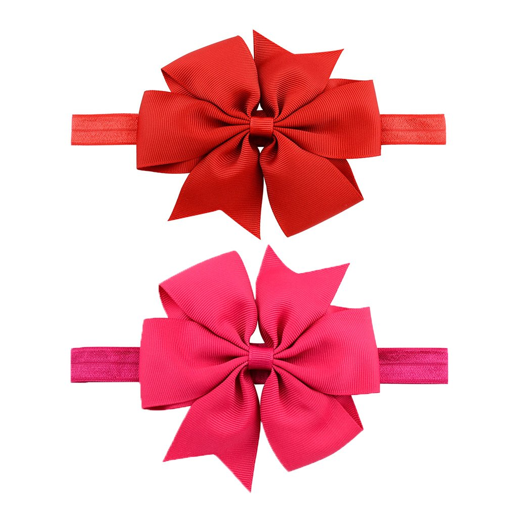 LQSmile Baby Girl's Beautiful Elastic Hair Hoops Headbands with Hair Bow for Take Photograph by LQSmile (Image #5)