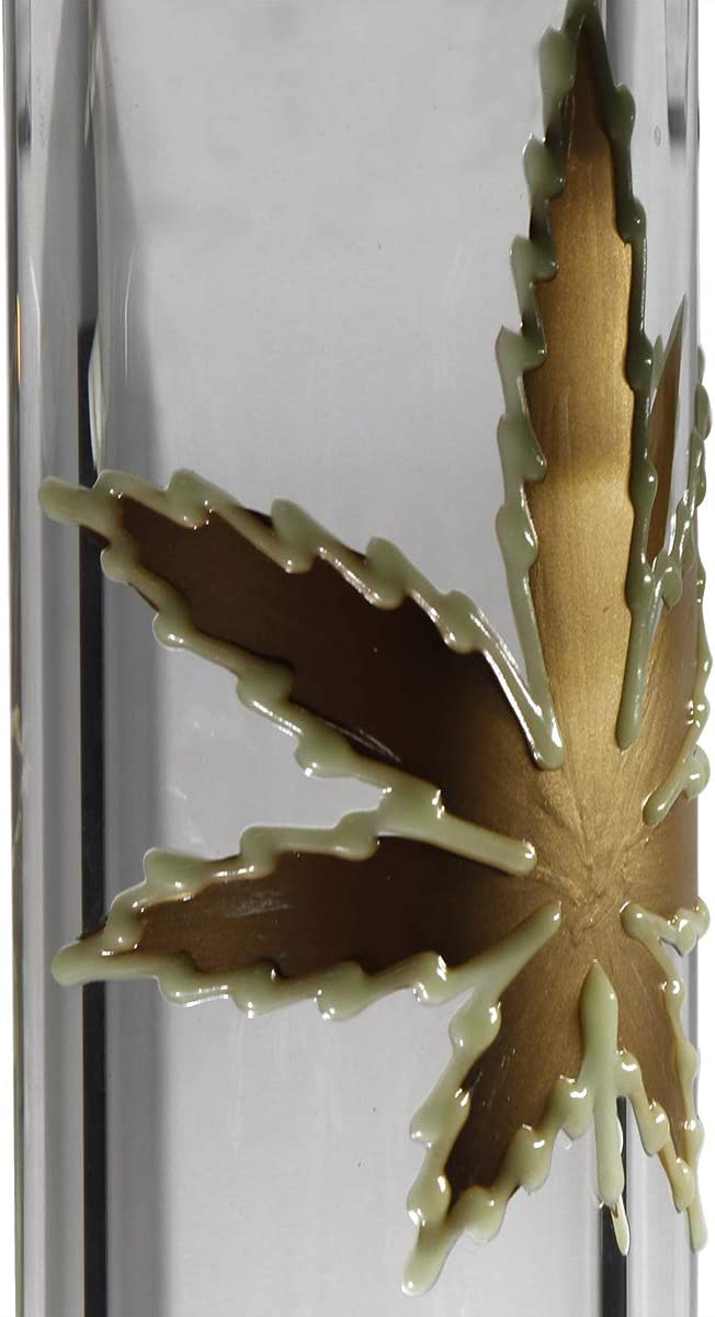 YIENG 17.5Inch Handmade Home D/écor Thicken Glass Vase