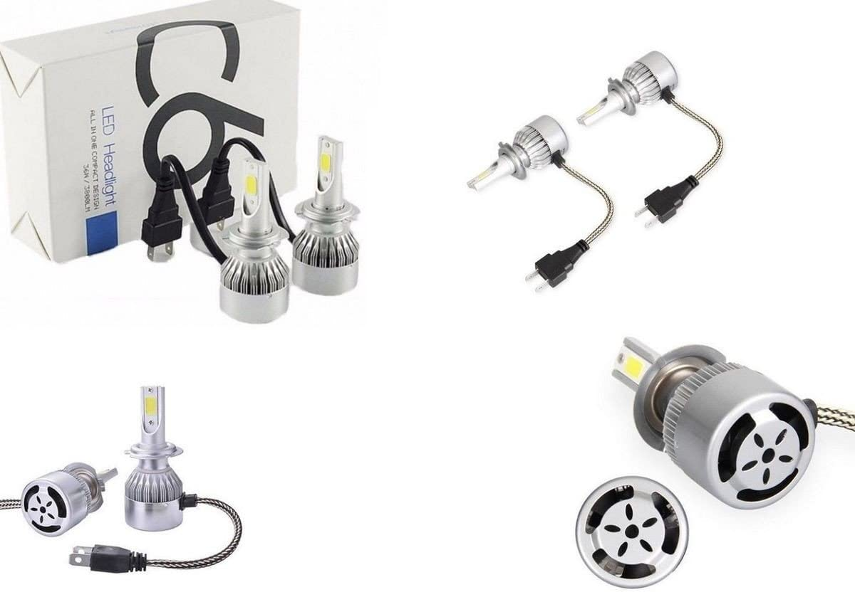Kit lumi/ères LED C6/H7/3800LM 36/W 6000/K blanc froid voiture moto