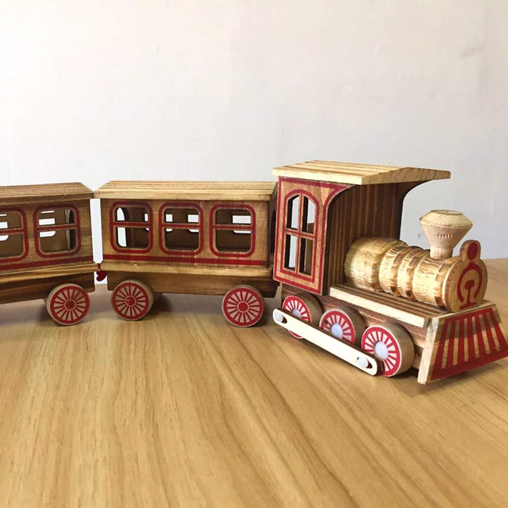 SUPVOX Weihnachtsschmuck Holz Zug Weihnachtszug Eisenbahn Kinder Spielzeug