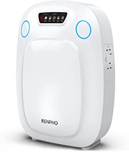 RENPHO True H13 HEPA Air Purifier for Home Large Room 330 SQ.FT, Air Purifier for Allergies and Pets, Air Cleaner for Office Kitchen, Eliminate Odors Smoke Mold Pollen Dust for Bedroom, Auto Mode
