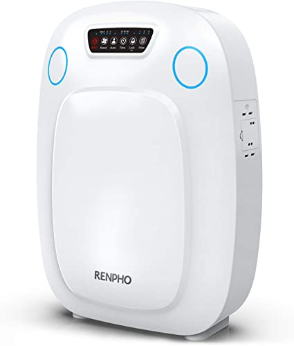 RENPHO Air Purifier for Home Large Room, HEPA Filter Air Purifiers for Allergies and Pets, Air Purifiers for Living Room Bedroom, Traps Allergens, Smoke, Odors, Mold, Dust, Germs, Pet Dander