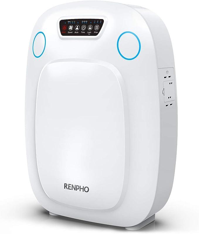 Purificador de aire Renpho para el hogar, habitación grande, filtro HEPA purificadores de aire para alergias y mascotas, purificadores de aire para sala de estar ...