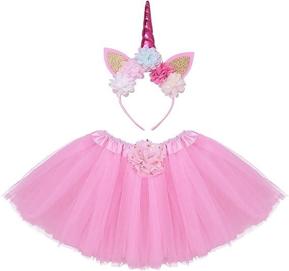 iiniim Falda Unicornio Tutú Bebe Niña Vestido Princesa con Diadema ...