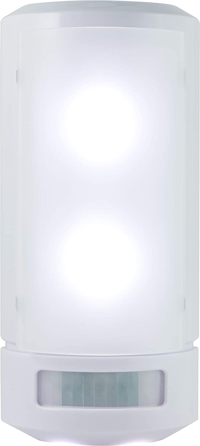 GE Wireless LED Wall Sconce, Motion Sensing, Manual On/Off, Warm White Light, Battery Operated, No Wiring Needed, Easy To Install, Perfect for Entry, Stairs, Hallway, Closet, Basement, 17455 - Wall Porch Lights -