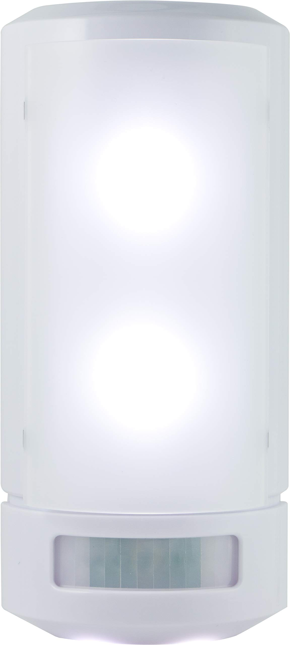 GE Wireless LED Wall Sconce, Motion Sensing and Manual On/Off Operating Modes, White, 17455