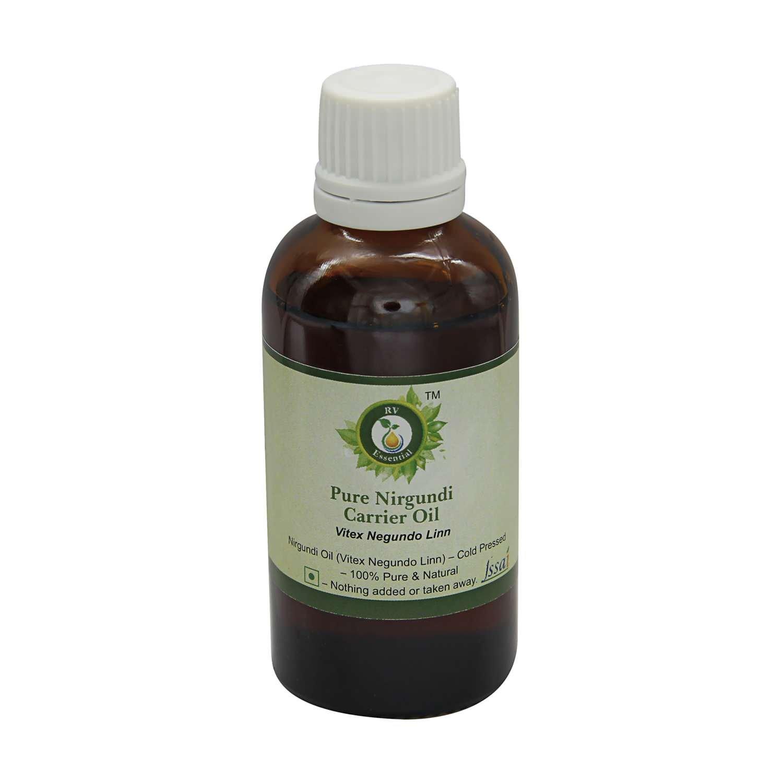 Nirgundi Oil | Vitex Negundo Linn | Pure Nirgundi Oil | Undiluted | Uncut | 100% Pure Natural | Cold Pressed | 300ml | 10oz By R V Essential