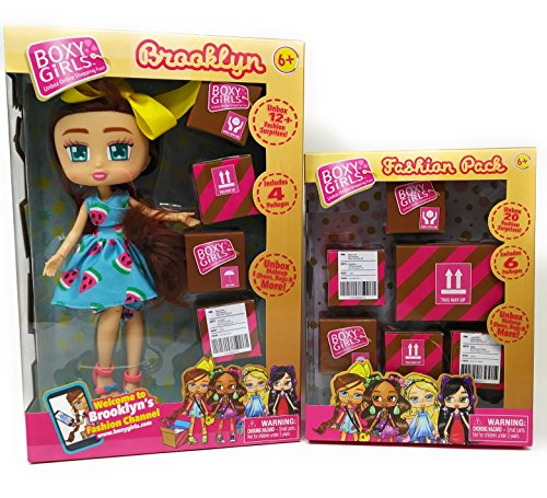 Dolls Kids Little Toddlers Girls Play Indoor Playtime BoxyGirls Brooklyn And Fashion Pack