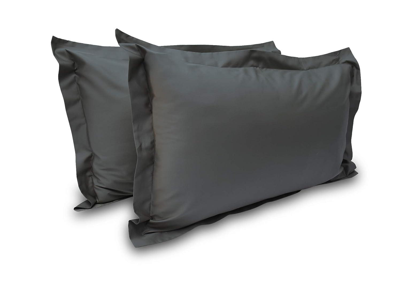 Standard 20 x 26, Burgundy 400 Thread Count 2 Pcs Pillow Shams 100/% Egyptian Cotton Solid//Plain