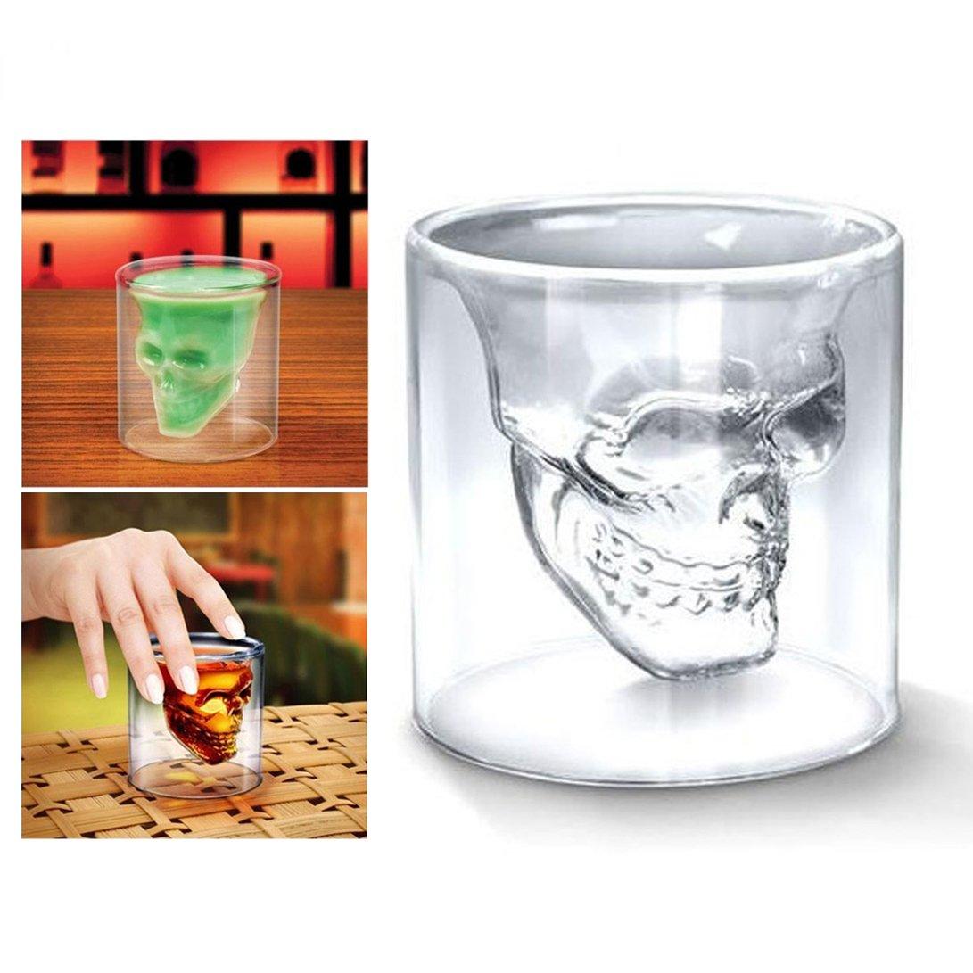 Skull Spirit Crystal Glasses Pack of 4: Amazon.co.uk: Kitchen & Home