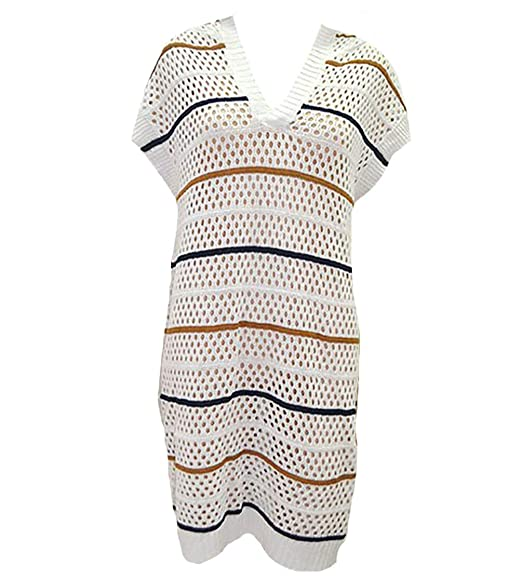 4016fd6228126 Bestyou Women's Crochet Knit Hooded Tops Swimsuit Bikini Bathing Suit Cover  up Tunic (Multicolored)