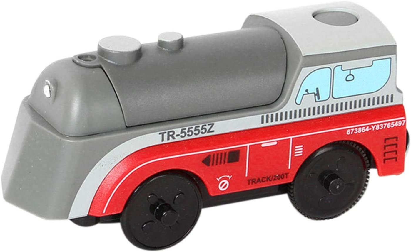 Wooden Railway Electric Train Compatible for BRIO Wooden Track Train Toy The Perfect Toy for Train Lovers Battery Powered Engine Action Train Magnetic Connection