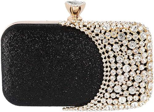 Glitter Ladies Flowers Pearls Hard Case Clutch Bag Diamante Handbag Prom Party