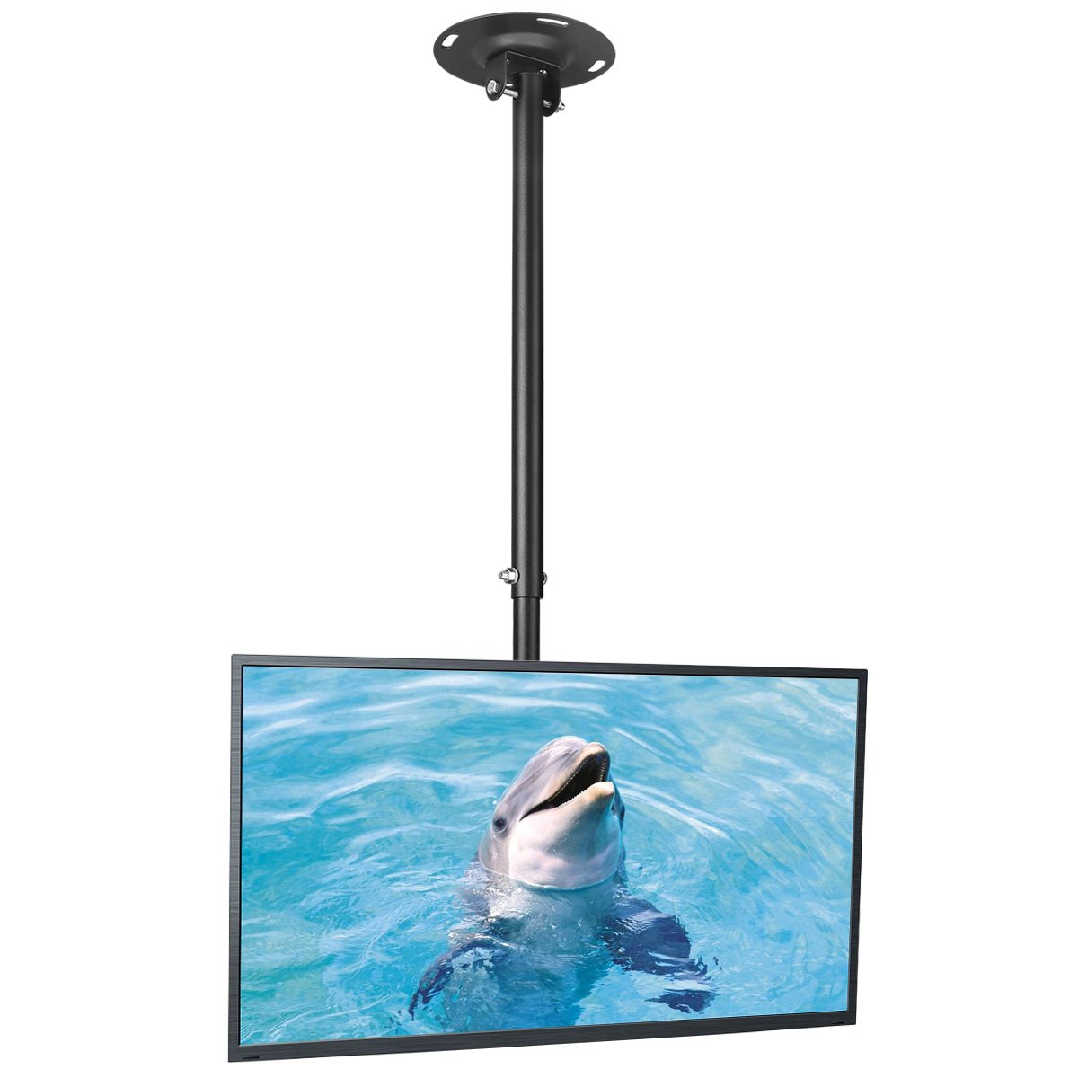 Suptek Ceiling TV Wall Mount Fits Most 26-50'' LCD LED Plasma Flat Panel Display with Max VESA 400x400mm Max Loaded up to 45kg Height Adjustable with Tilt and Swivel Motion MC4602