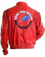 Capsule Logo Kaneda Red Leather Jacket