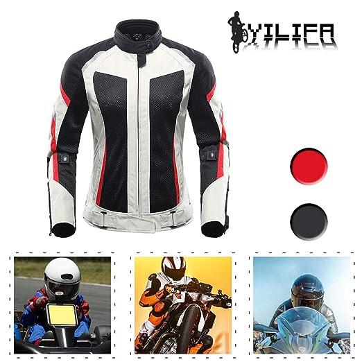 YILIFA Trajes de Moto Traje de Carrera para Mujer Chaqueta de Alta ...
