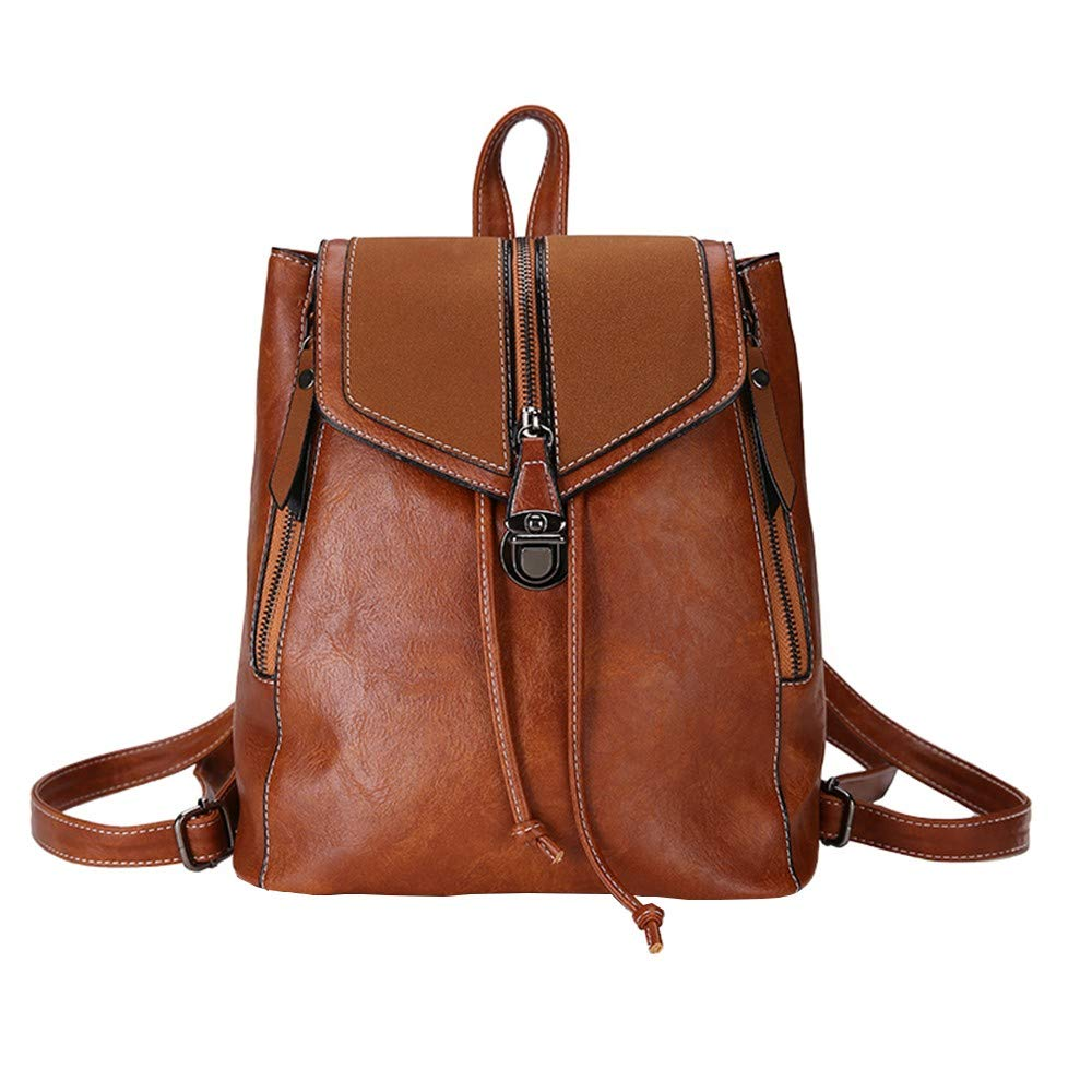 Clearance Sales!! ZOMUSAR Women Backpack Purse PU Leather Convertible Ladies Rucksack Zipper Pocket Crossbody Shoulder Bag (Brown) by ZOMUSAR