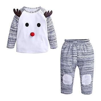 LanLan Traje de Bebé recién Nacido niña niño Jersey de Navidad + ...