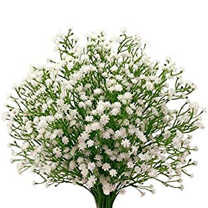 Maylife 9Pcs Artificial Fake Baby Breath Flowers Plants Bouquets Wedding Home DIY Decor (White) 32