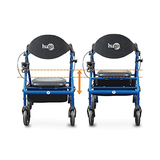 Hugo Mobility 700-905 Wave Premium Rollator Walker with Extra Features, Pacific Blue