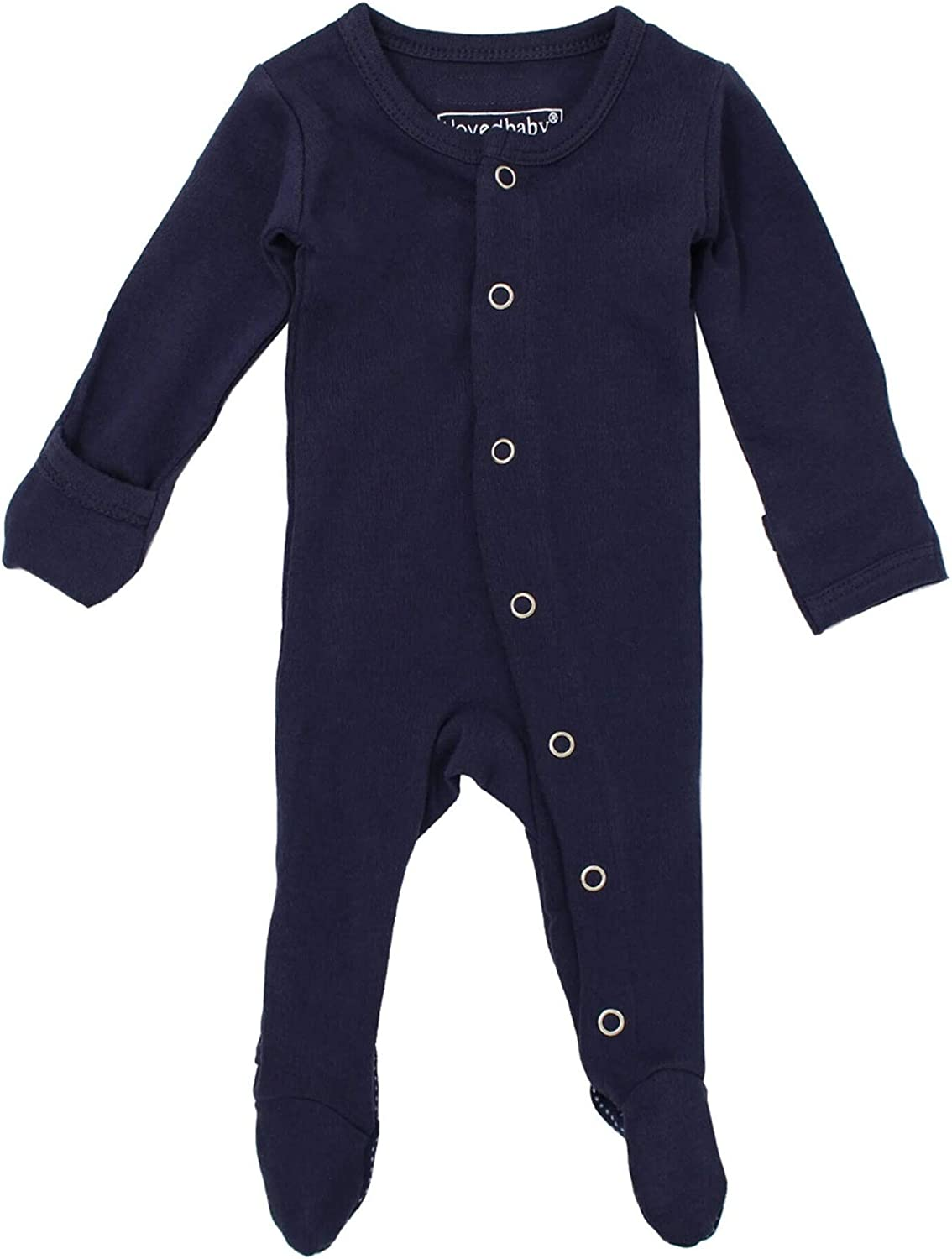 Lovedbaby Unisex Baby Organic Cotton Gloved-Sleeve Footed Overall