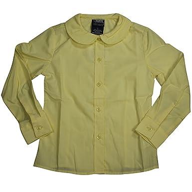 f3f2b04f55c670 French Toast School Uniform Girls Long Sleeves Peter Pan Blouse, Yellow, 4T